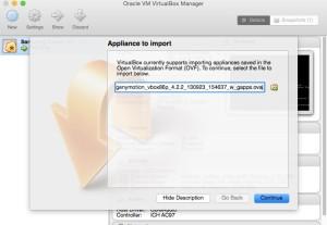Import OVA File to Virtual Box